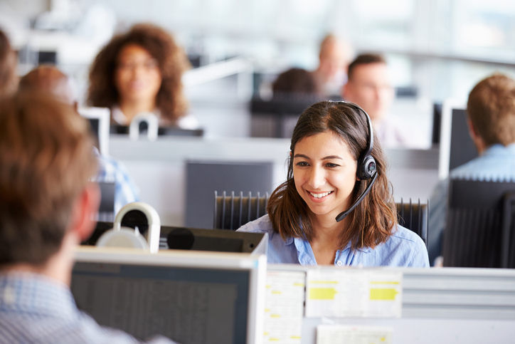 Contact centre agent with colleagues